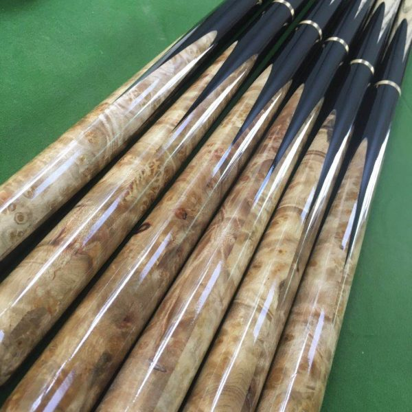 5 Sides Tree Tuft Snooker Cue 3 4 With Extensions